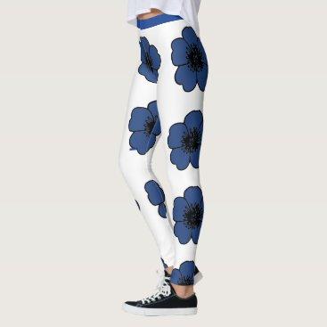Aztec Themed Flower-Me-Navy-Floral_LEGGING'S_XS-XL Leggings