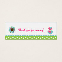 Flower Meadow Baby Bird Party Favor Gift Tags