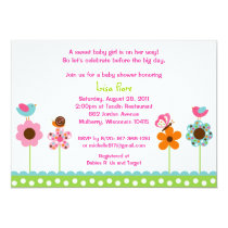 Flower Meadow Baby Girl Baby Shower Invitations
