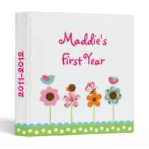 Flower Meadow Baby Photo Album Scrapbook Binder