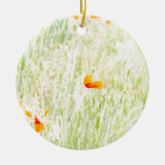 Flower meadow ceramic ornament