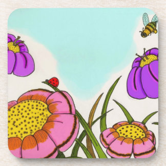 Flower Meadow Coasters - Set of 6