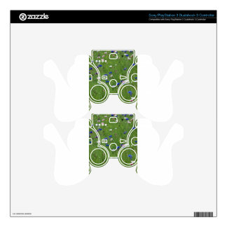 flower meadow decal for PS3 controller