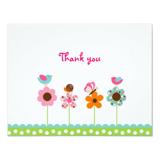 Flower Meadow Flat Thank You Note Cards