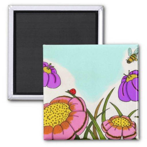 Flower Meadow Magnet