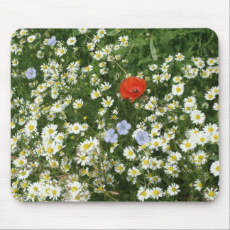 flower meadow mouse pad