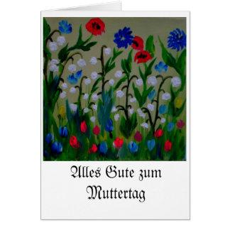 Flower meadow picture by Eva Borowski Card