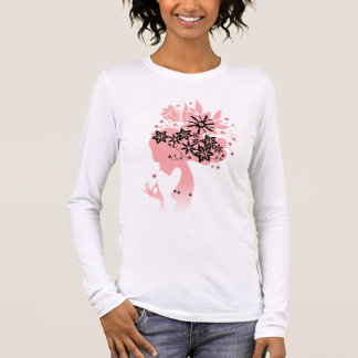 Flower mind Lady Pink Long Sleeve T-Shirt