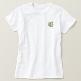 Flower Monogram Initial C Embroidered Shirt