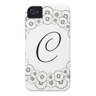 Flower Monogram iPhone Case