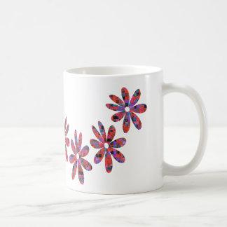 Flower mosaic coffee mug