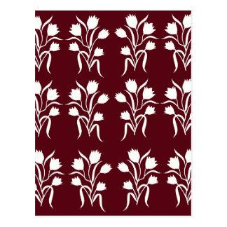 Flower motifs Design Postcard
