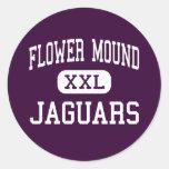 Flower Mound - jaguares - alto - Flower Mound Etiqueta Redonda