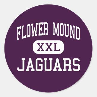 Flower Mound - jaguares - alto - Flower Mound Pegatina Redonda