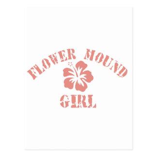 Flower Mound Pink Girl Postcard