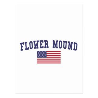Flower Mound US Flag Postcard
