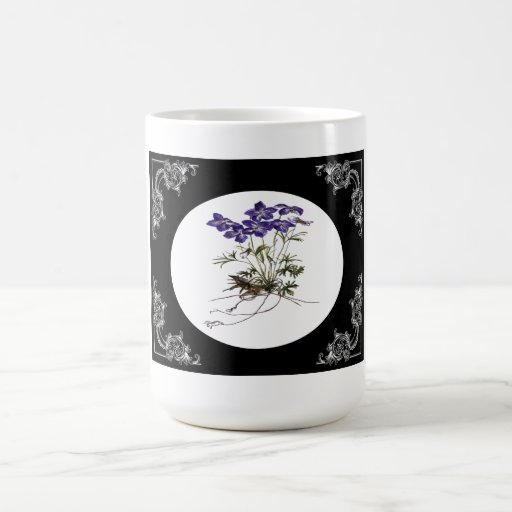 Flower mugs and cups