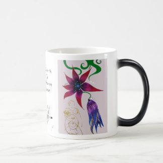 """Flower """"mural"""". magic mug"""