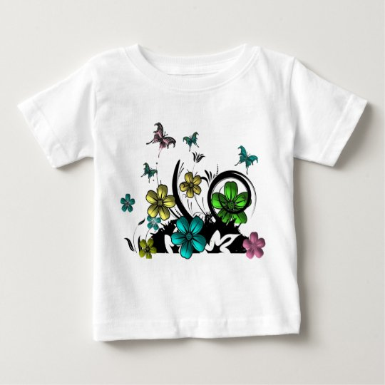Flower N Butterfly Baby T-Shirt