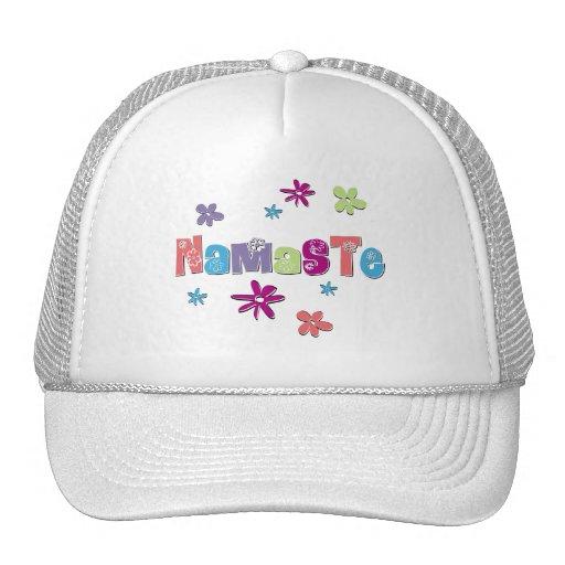 Flower Namaste Yoga Gear Mesh Hats