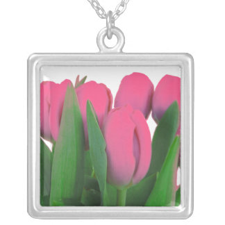 Flower Necklace - Pink Tulips