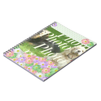 flower note book add your photo