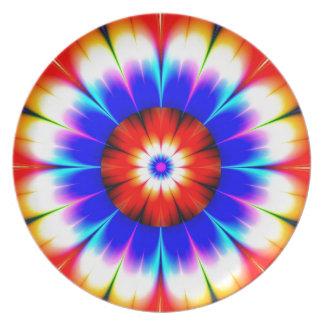 flower obstruct color dinner plate