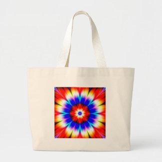 flower obstruct color large tote bag