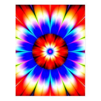 flower obstruct color postcard