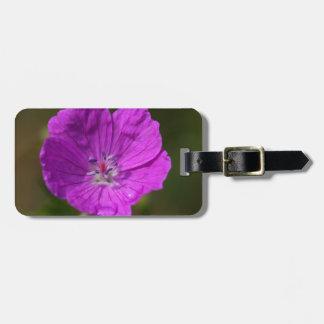 Flower of a bloody geranium luggage tag