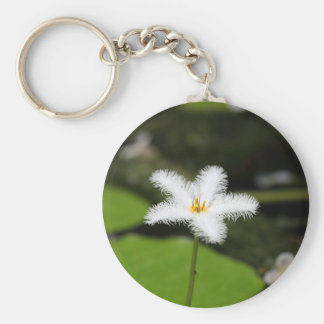 Flower of a floatingheart keychain