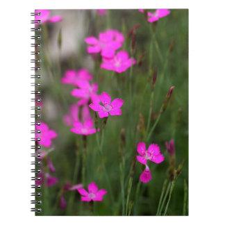 Flower of a maiden pink spiral notebook