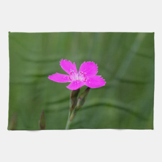 Flower of a maiden pink towel