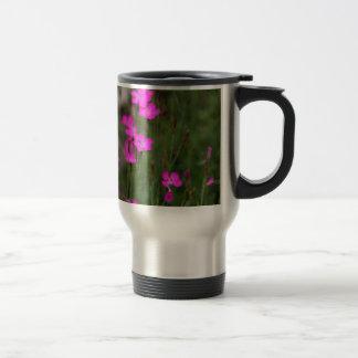 Flower of a maiden pink travel mug