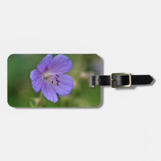 Flower of a meadow geranium bag tag