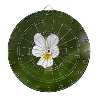 Flower of a wild field pansy dart board