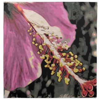 Flower of Hibisco Rosa Napkin