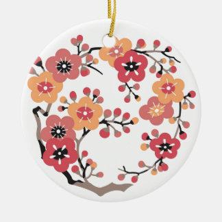 Flower of Japanese plum Ceramic Ornament