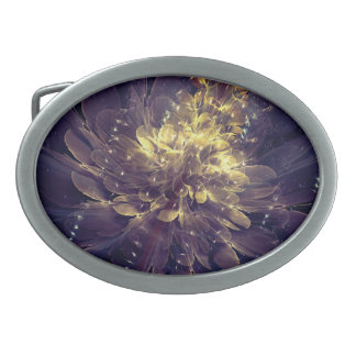 Flower Of Liberty Golden Blue Flower | Belt Buckle