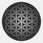 flower of life3 classic round sticker