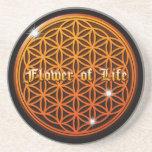 flower of life4 drink coaster