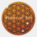 flower of life4 round sticker