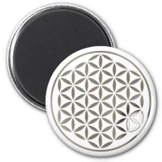 Flower OF Life 1 - Silver stamp Magnet