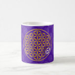Flower Of Life 1 - stamp | oro violet pattern