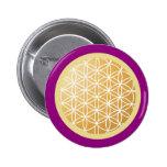 Flower of Life 2 Inch Round Button