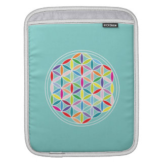 Flower of Life 2-Way Design/Ptn – Multicol/Blue Sleeve For iPads