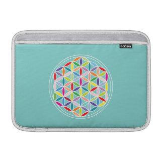 Flower of Life 2-Way Design/Ptn – Multicol/Blue MacBook Air Sleeves