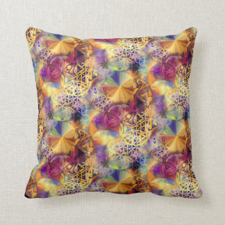 Flower of Life 9 Throw Pillow