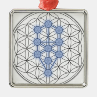 Flower of life and tree of life. metal ornament