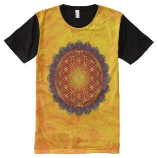 Flower Of Life - Apophysis Mandala I + your ideas All-Over Print T-shirt